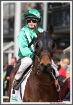 Bremer Galopprennen Mit Shetty 300318 Faintly Mit Jockey Amateurin Luisa S  Steudle IMG 0484